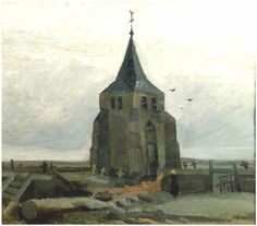 Vincent van Gogh Old Church Tower at Nuenen, The Painting