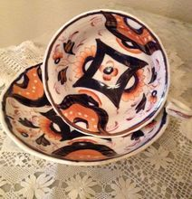Staffordshire Circa; 1830 Gaudy Welsh China Cup and Saucer