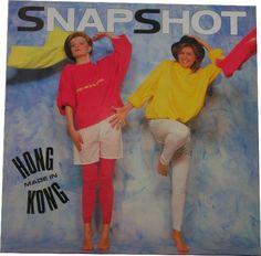 Snapshot  1985  Danish pop duet, early 80's look.