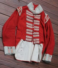 Except handsewn reproduction of a light Company Private's coatee of the New Brunswick Regiment from the War of Custom made for me in 1990 by the famed Charles Childs of County Cloth . Military Coats, War Of 1812, New Brunswick, Napoleonic Wars, British Army, Custom Made, 19th Century, 18th, Overalls
