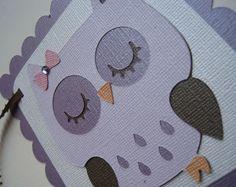 PRETTY PLUMS OWL Custom Name Banner Listing Handmade Christmas Gift. $15.00, via Etsy.