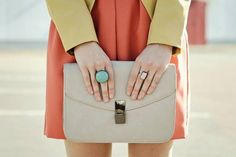 An Extra Punch of Color with a Single-Tone Ring. #colorblocking #tracyscloset #fashion #shopping #shopfreely