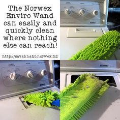 The #Norwex Enviro Wand can be used all around the house, even in the places you can't see. #Cleaning www.ashleyhuwa.norwex.biz