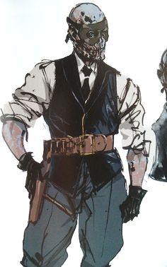 escaped-ocelot: Skull Face (via bigbosseyepatch) Game Character Design, Character Design Inspiration, Character Concept, Character Art, Concept Art, Cyberpunk Fashion, Cyberpunk Art, Geek Culture, Metal Gear Rising