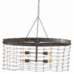 ARTERIORS Home Trudy 4 Light Oval Iron Wire Link Pendant