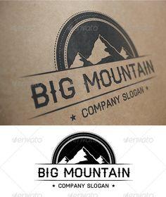 Big Mountain Logo — Vector EPS #mountain #big • Available here → https://graphicriver.net/item/big-mountain-logo/1666588?ref=pxcr