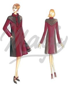 Our Patterns :: Marfy Collection 2014/2015 :: Autumn/Winter :: Sewing Pattern 3486 -