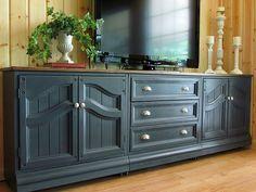 tv cabinet in graphite annie sloan chalk paint