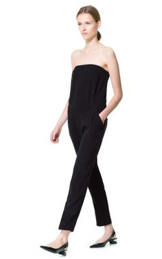 STRAPLESS JUMPSUIT - Jumpsuits - Woman - ZARA United States