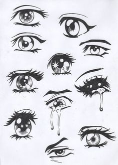 Easy Anime Drawing Eyes - Easy Anime Eyes To Draw Girl Anime Hair Sketches Drawings Easy Drawing Manga Eyes Part Ii Risovat Glaza Risovanie Glaza How To Draw Anime Eyes Step By. Drawing Eyes, Drawing Sketches, Painting & Drawing, Drawings Of Eyes, Cartoon Eyes Drawing, Lips Cartoon, Sketches Of Eyes, Crying Eye Drawing, Pencil Drawings