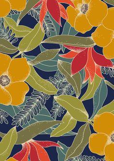#minakani #flowers #leaf #exotic #tropical #birdofparadise #hawaii #tiki #pattern
