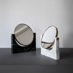 Pepe Marble Mirror, White Marble available at The Future Perfect!