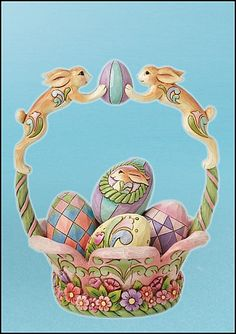 Jim Shore, Spirit of Easter - Basket with Easter Eggs