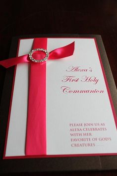 First Holy Communion Invitation Set  by classiceventdesigns, $7.00