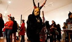 Celebrating our annual art exhibit / Krampuslauf in Elgin! This year, we will again be out and about Downtown Elgin with more costumed Krampus and Krampuslauf-themed costumed characters (you don't have to dress as Krampus, you can be St. Nicolas or an angel or hapless Victorian Krampus victim!). More details coming soon! Check the Facebook event page for the most recent information. Click here.