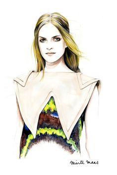 Inspiration Hut – Art and Design Blog » Beautiful Fashion Portrait Illustrations by Caroline Andrieu