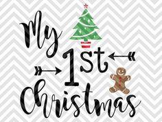 My First Christmas baby onesie SVG file - Cut File - Cricut projects - cricut ideas - cricut explore - silhouette cameo projects - Silhouette projects  by KristinAmandaDesigns