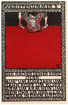 ¤ Moriz Jung, postcard 87, Wiener Werkstatte.
