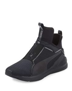 S0GL7 PUMA Fierce Quilted High-Top Sneaker, Black