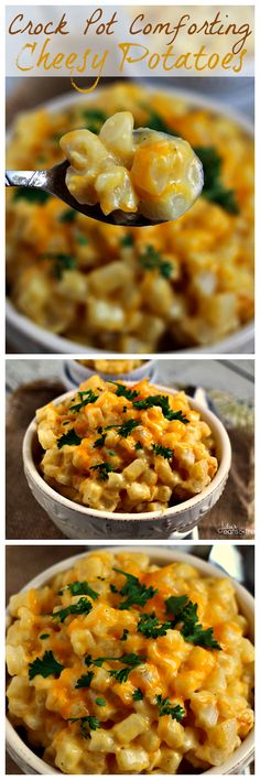 Crock Pot Cheesy Potatoes by Julies Eats & Treats - except using condensed cheddar cheese soup instead of chicken