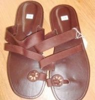 Thai Leather Flip Flops Strap & Star - £18.70