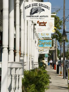 Galleries on Duval Street, Key West, Florida, USA Photographic Print | By R H Productions