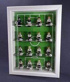 Figucase collection showcase for LEGO® series 71014 minifigures EM … – Conception Boys Football Bedroom, Football Rooms, Soccer Room Decor, Soccer Theme, Lego, Soccer Gifts, Football Design, Kids Bedroom, Bedroom Themes