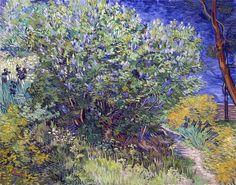Vincent van Gogh (1853-1890)   Lilac Bush, 1889   Olio su tela, 73 x 92 cm  Hermitage Museum, Saint Petersburg