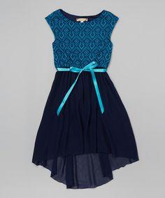b826a3d2d Look at this  zulilyfind! Navy Tulle Hi-Low Dress  zulilyfinds Hi Low