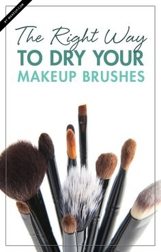 Cleaning your makeup tools can be such a pain, but it's necessary for clear skin! Here's how to dry your makeup brushes the RIGHT way!