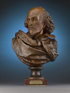 Bust of William Shakespeare by Carrier-Belleuse ~ M.S. Rau Antiques