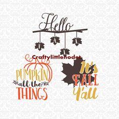 It's Fall Ya'll Pumpkin All The Things Hello by CraftyLittleNodes pumpkin all the things hello fall cricut explore silhouette cameo cutting files STUDIO SVG Ai EPS