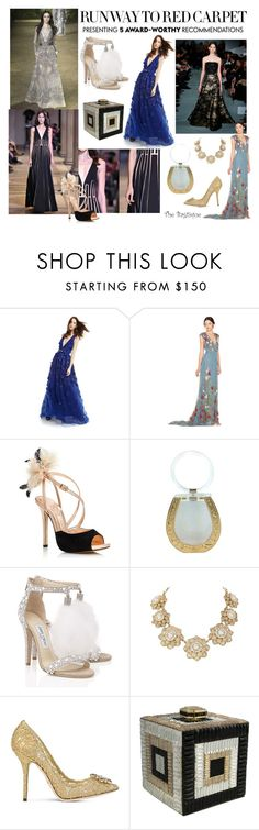 """Oscars!"" by thebagtique ❤ liked on Polyvore featuring moda, Elie Saab, Alice + Olivia, Kate Spade, Charlotte Olympia, Jimmy Choo, Bagtique, Dolce&Gabbana, RedCarpet y luxury"