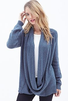 Contemporary Shawl Collar Cardigan | Forever 21 - 2000121244