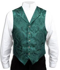 Wedding Mens Green Floral Notch Collar Dress Vest | Formal | Bridal | Prom | Tuxedo || Emerald Isle Vest