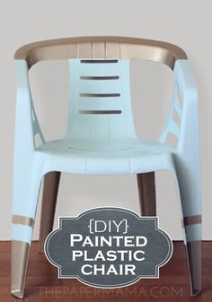 Give your ordinary plastic chairs a makeover for summer entertainment with this DIY tutorial!