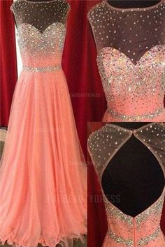 A-Line/Princess Jewel Sweep/Brush Train Tulle Prom Dress