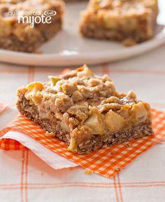 Barres croustillantes aux pommes et au caramel #recette