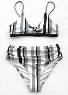 Hit the beach in a simple bikini. This bikini features scoop front-knot and a black trim under the bust. The matching bikini bottoms are shirred at the hips. Source by CUPSHE Strap Bikini, Halter Bikini, Bikini Beach, Bikini Swimwear, Swimsuits, Grey Bikini Set, Bikini Sets, Bikini Bottoms, Bikini Noir