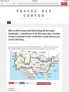 How to drive across the USA hitting many major landmarks