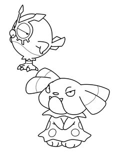 duskull pokemon coloring pages - photo#27