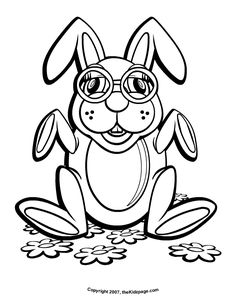 Bunny With Eyeglasses Free Coloring Pages For Kids