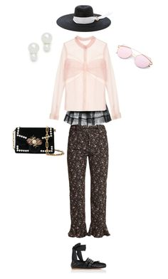 """""""easy outfit perfect for outside walks"""" by vnae18 on Polyvore featuring Simone Rocha, Mary Katrantzou, Rebecca Taylor, Miu Miu, Kate Spade, Littledoe and Proenza Schouler"""