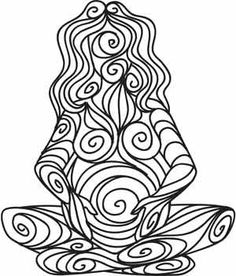 Earth Goddess coloring page