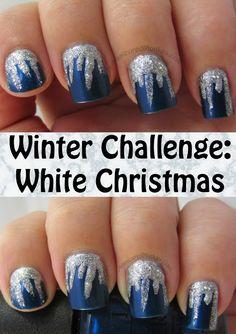 The Manicured Monkey: Winter Challenge: White Christmas- Icicle Mani