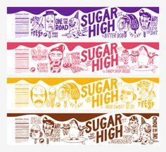 Sugar High Open via @Matty Chuah Dieline