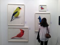 An Art Toronto visitor takes in watercolours by Peter Haslam-Fox at ...
