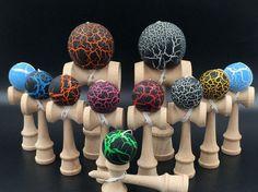 1pc kids boy girls Safety Toy Bamboo crack Kendama Wooden Toys fashion children Kids fun ball Toy