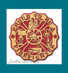 Scroll Saw Patterns :: Plaques :: 'Proud to be' plaques :: Proud to be a Firefighter -