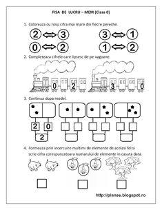 Imagini pentru fise de lucru clasa pregatitoare editura edu Kindergarten Math Worksheets, Math Literacy, Preschool Math, Math 2, Educational Activities For Kids, Kids Learning, Teaching Emotions, Math Pages, Kids Schedule